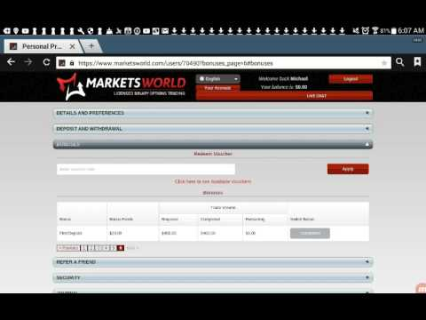 Markets World Real Money - Binary Options Withdrawing Money Proof!