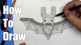 How To Draw a Minecraft Bat - Step By Step