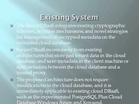 2014 CLOUD COMPUTING Distributed, Concurrent, and Independent Access to Encrypted Cloud Databases