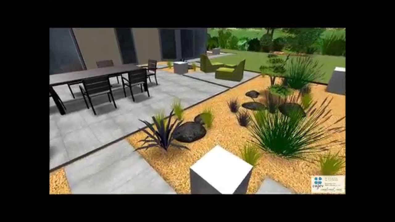 Terrasse moderne aspect b ton brut youtube - Photo de terrasse moderne ...