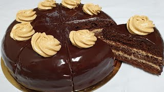 Oddiy masalliqlardan Shokoladli Tryufel torti/ Торт Шоколадный Трюфель