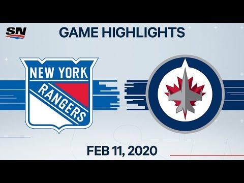 NHL Highlights | Rangers Vs. Jets – Feb. 11, 2020