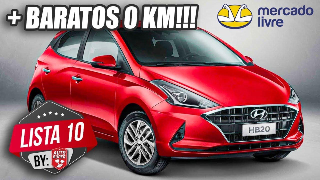 10 CARROS MAIS BARATOS 0KM ENCONTRADOS NO BRASIL (by Mercado Livre)