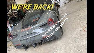 Rebuilding A WRECKED Ferrari 488 GTB PART 1!