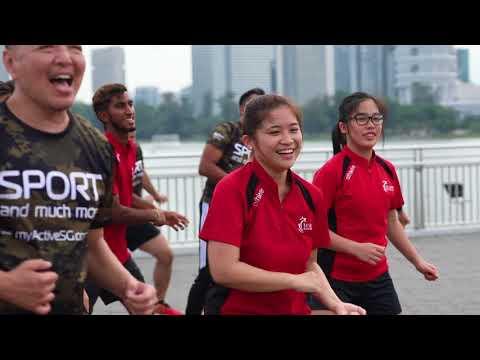 2018 GetActive! Singapore NDP Workout [Mirror-Imaged Instructional Video] - Fallen Superhero Remix