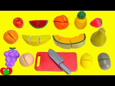 Toy Cutting Fruits Velcro Food Toys LEARN COLORS and FRUITS