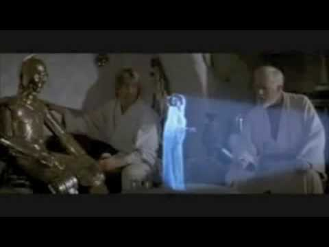 Help Me Obi Wan Kenobi Youre My Only Hope Youtube