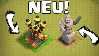 CLASH OF CLANS UPDATE || NEUE LUFTABWEHR & NEUE STATUE [Deutsch/German HD]