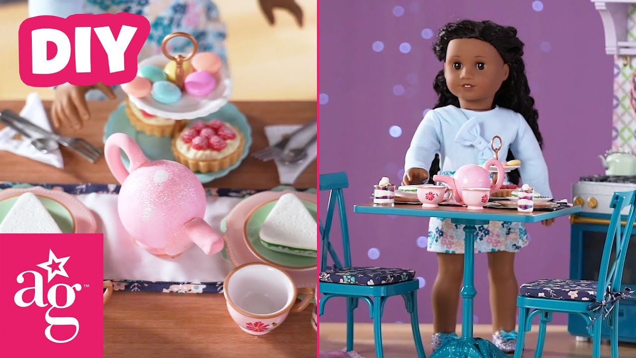 Fancy DIY Tea Party and Yogurt Parfait For Your Doll | Doll DIY | American Girl
