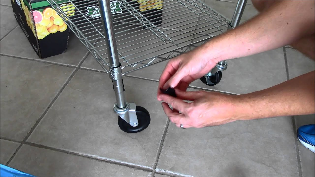 Wire Shelving Rack Assembly