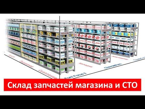 Склад запчастей магазина и СТО
