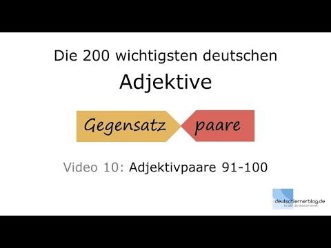 adjektive kennenlernen video