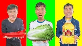 PHD | Trận Chiến Đồ Ăn Cùng Màu | Eating Only ONE Color of Food