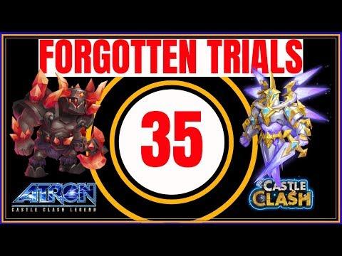 FORGOTTEN TRIALS 35 - BEST STRATEGY - CASTLE CLASH