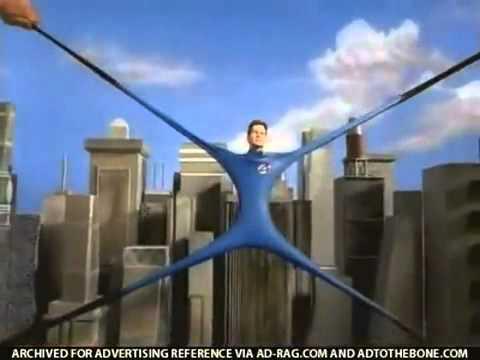 Fantastic 4 Mr Fantastic Super Stretch Tv Toy Commercial