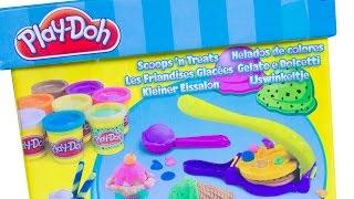 Play Doh Scoops 'n Treats Playdoh Ice Creams Diy Helados De Colores How To Make Playdough Ice Creams