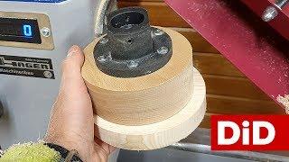 899. Drewniany docisk klejowy DIY do tokarki
