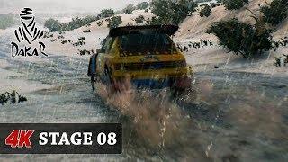 A LOT OF RAIN DAKAR 18 Game [4K] CARS - FULL Stage 08 (Uyuni - Tupiza) Toyota - Nasser Al Attiyah