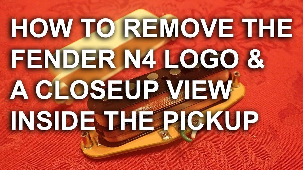 Fender N4 Gen4 Noiseless Pickups Inside Closeup Logo Removal Vox Guitar Wiring Diagram Review Tonymckenzie Com