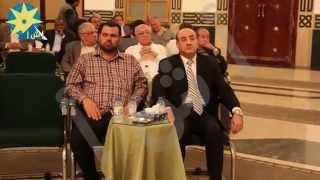 بالفيديو: هشام جنينة وأسامة هيكل وعمرو سعد وسمير الاسكندراني في عزاء والدة أسامه الشيخ
