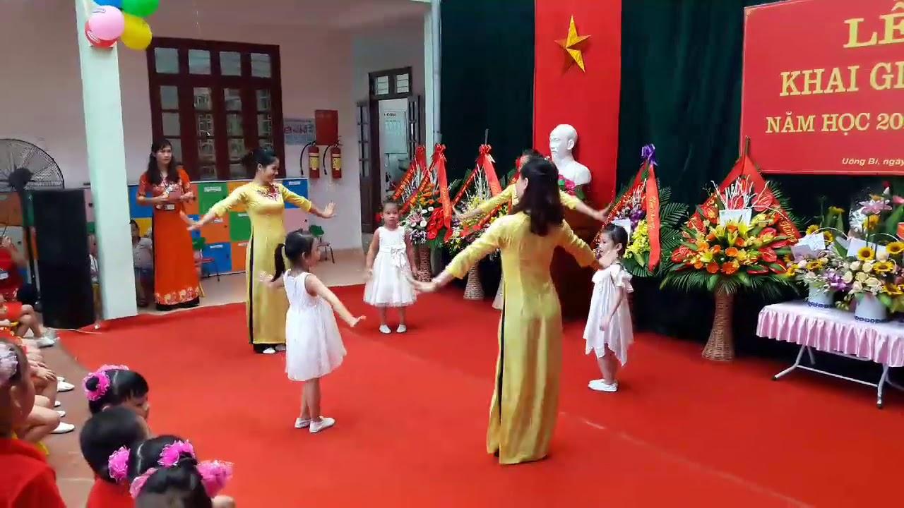 Văn Nghệ Khai Giảng – Múa Mầm non hạnh phúc thân yêu- Cô trò trường mầm non Yên Thanh – Quảng Ninh