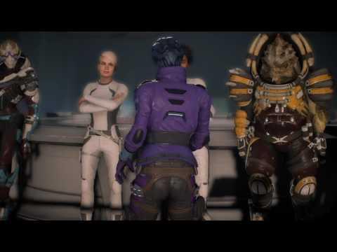 Mass Effect Andromeda Peebee Calls a ship meeting (Romance scene)