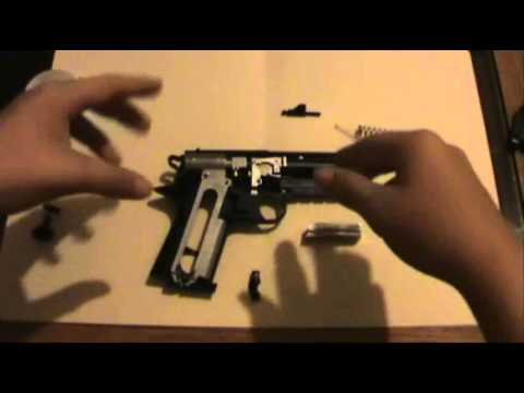 Diagram on how to put together a powerline hand BB gun model