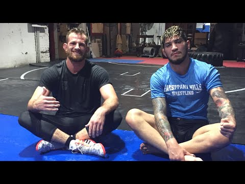 Dillon Danis training with NCAA Champion David Taylor