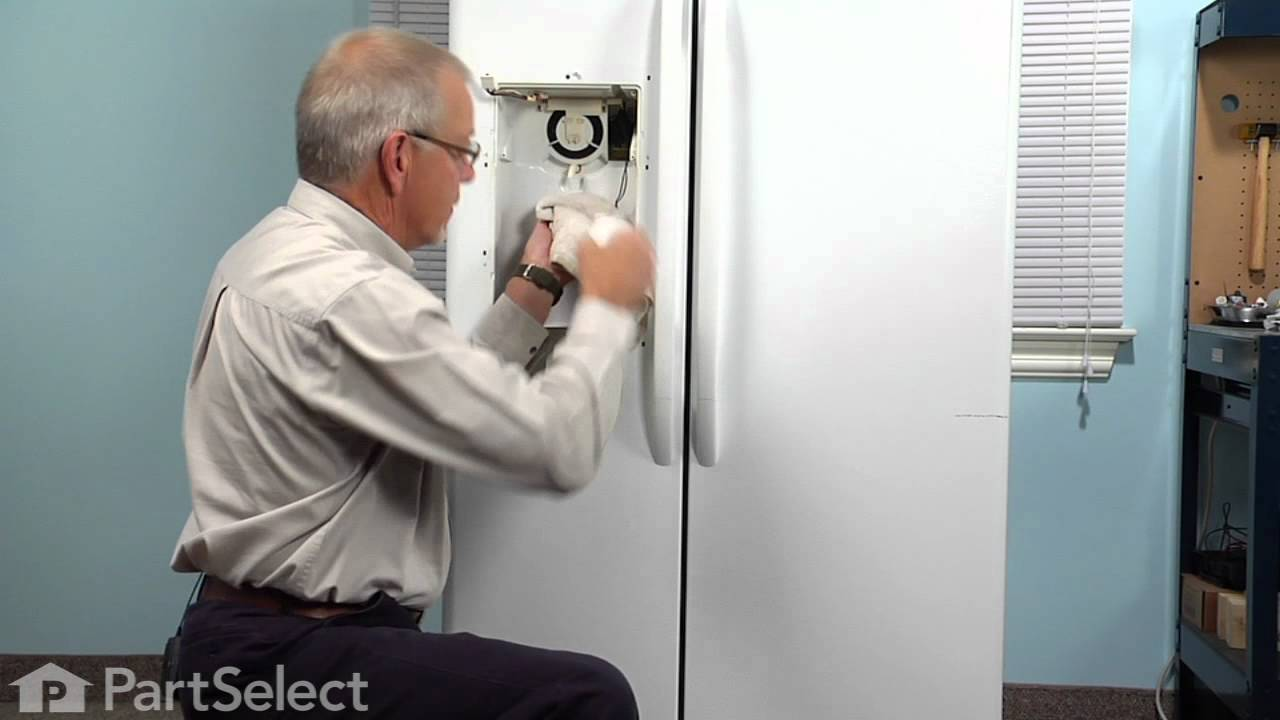 Refrigerator Repair Replacing The Recess Door Spring Ge