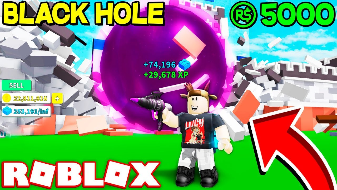 SPENDING 5,000 ROBUX ON BLACK HOLE LAUNCHER! (ROBLOX ...