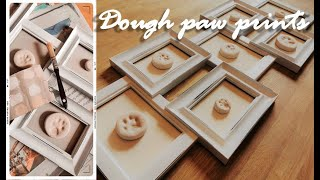DIY: PET PAW PRINT SALT DOUGH | Easy, cute pet keepsakes to display