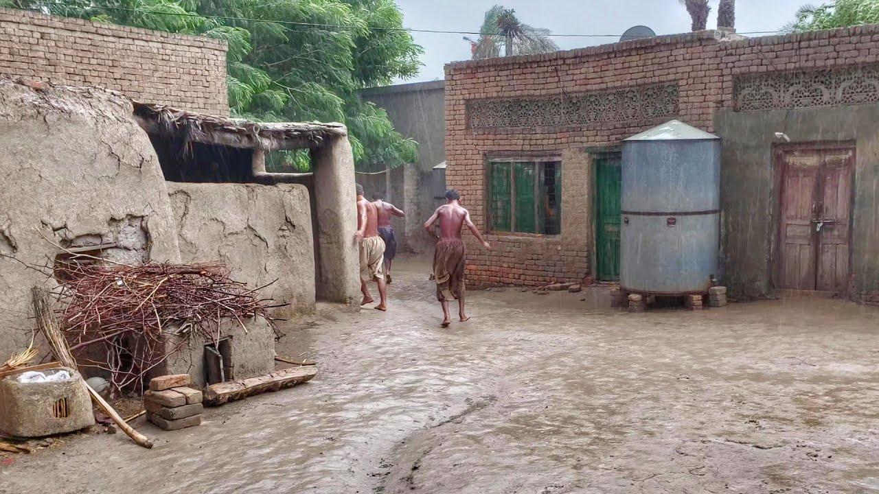 Rain In Punjab • Rural Lifestyle | Village Life In Pakistan