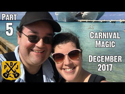Carnival Magic Cruise Vlog December 2017 - Part 5: Grand Turk - Free Beach Snorkeling - ParoDeeJay