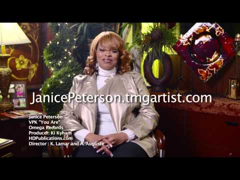 """Janice Peterson """"You Are"""" Video and VPK"""