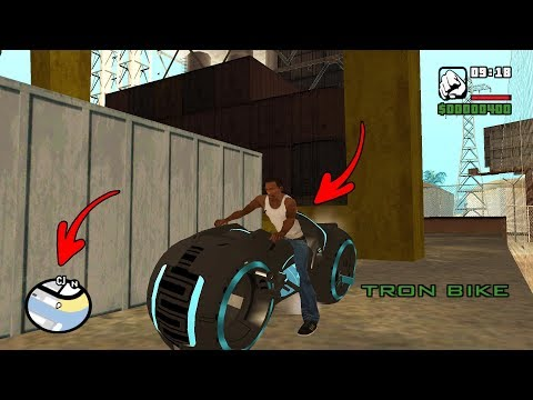 Secret Tron Bike Location In GTA San Andreas! (Hidden Place)