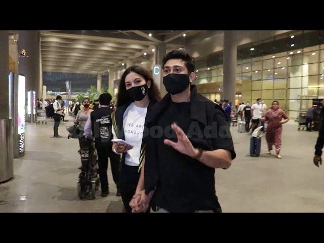Gauahar Khan And Zaid Darbar Spotted At International Airport Back Mumbai From Udaipur