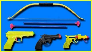 Bow & Arrow Toys with Colorful Toy Guns Toys!! Box Full of Toys with Indian Local Toys for Kids