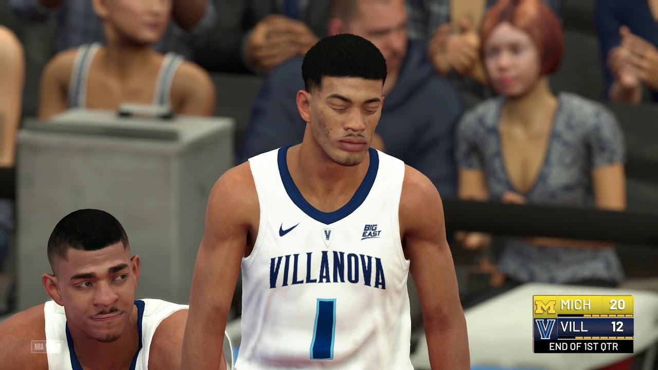 NBA 2k19 College Hoops 2k19 Michigan vs Villanova Rosters Updated For 2018  2019 Season