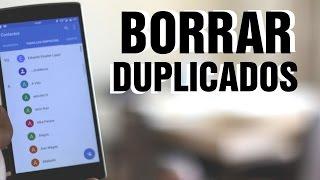 Eliminar contactos duplicados en movil Android