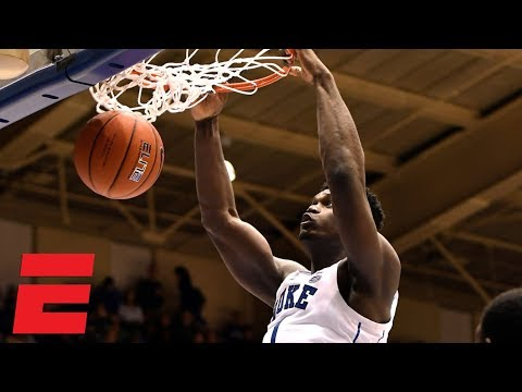 Duke dazzles crowd with 13 dunks against Stetson | College Basketball Highlights