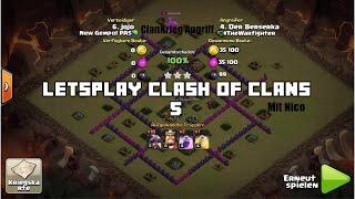 Clash of Clans #5- Deutschᴴᴰ/German - Meine Angriffe im ClanKrieg