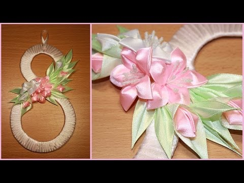 ✿✿✿ Подарок Канзаши на 8 марта ✿✿✿