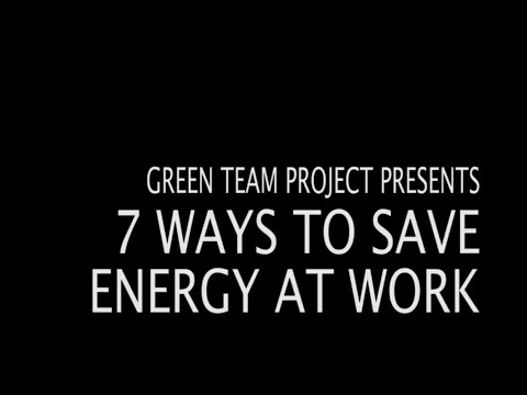 Tips To Save Energy At Work