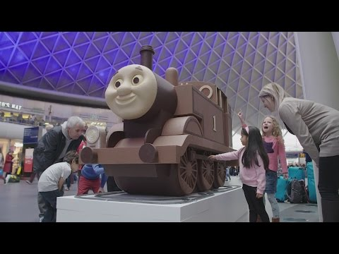 Thumbnail: Giant chocolate Thomas the Tank Engine brings joy at Easter