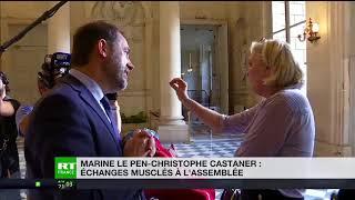 Affaire Benalla : le ton monte entre Marine Le Pen et Castaner