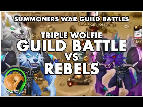 SUMMONERS WAR : Triple Werewolf - Guild Battle VS Rebels (Eshir, Jultan, Vigor)