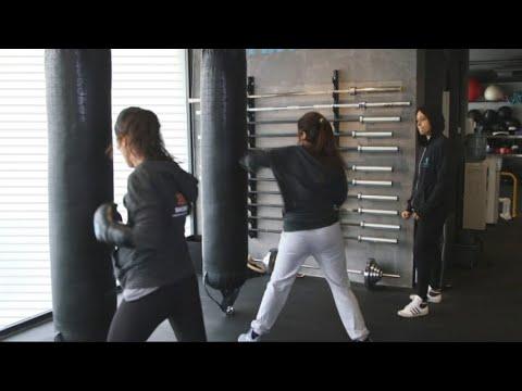 اول مدربة ملاكمة وكيك بوكسنغ في السعودية  - 22:23-2018 / 4 / 16