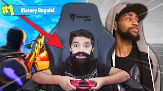 I Turned My Little Brother Into TSM DAEQUAN & He Did The OOGA BOOGA In Fortnite!