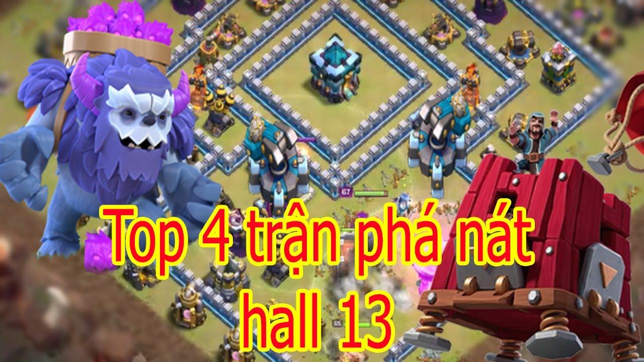 NMT | Clash of clans | Top 4 Trận War Phá Nát Hall 13 Đáng Nhất Mùa Noen