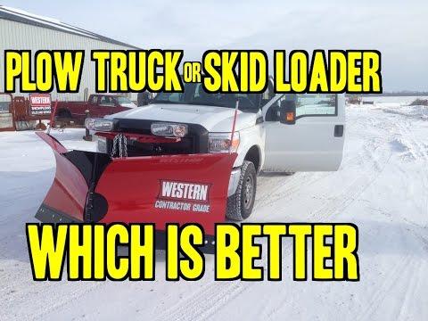 Snowplow Truck Vs Skid Steer
